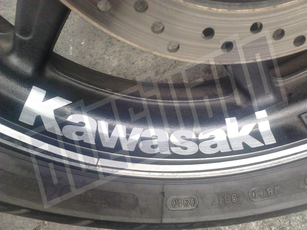Armario Retro Quarto ~ Adesivo Kawasaki Racing Para Roda Ninja 250r Er 6n Z1000 R$ 52,98 em Mercado Livre