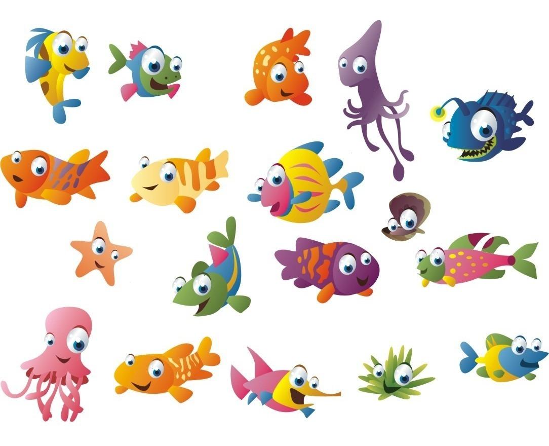 Adesivo Kit 18 Peixinhos Coloridos Nemo Disney Border R 18 00
