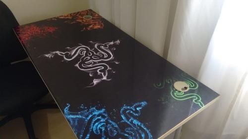 adesivo laminado para mesa gamer