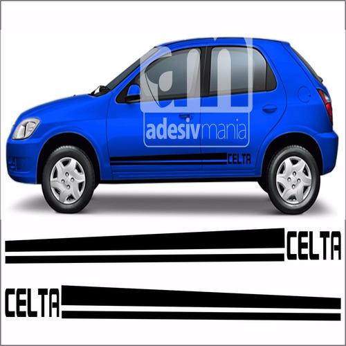adesivo lateral chevrolet celta sport prisma gm faixa clt-10