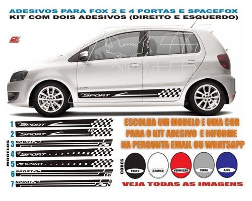 adesivo lateral faixa fox spacefox kit sport acessórios fox