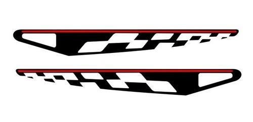adesivo lateral sandero gt- line preto e vermelho