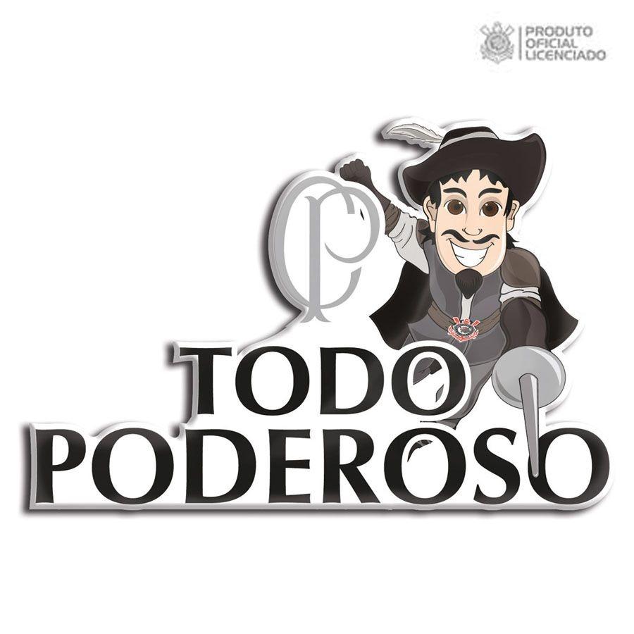 Adesivo Licenciado Corinthians Mosqueteiro Todo Poderoso - R  16 8eb6a9dfba67d