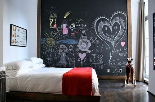 adesivo lousa decorativo parede geladeira móveis 1mt + giz