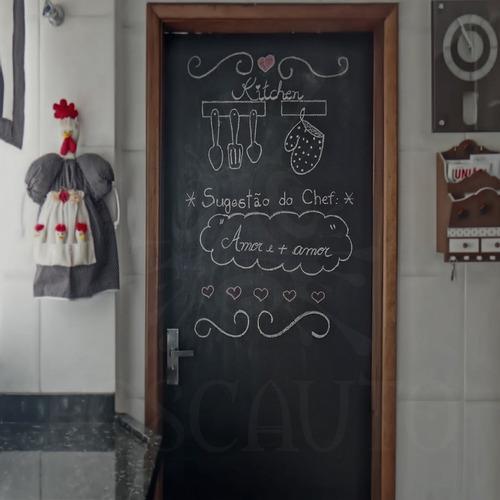 adesivo lousa decorativo parede geladeira móveis porta 1m