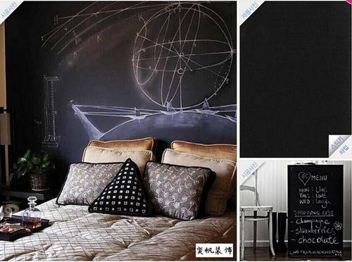 adesivo lousa quadro negro preto fosco 2x1 mt parede moveis