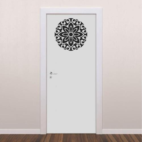adesivo mandala yoga meditação oriental 60cm d023