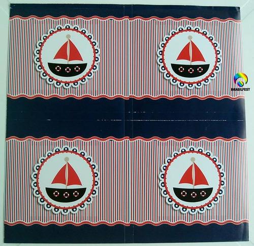 adesivo marinheiro quadrado 7x7cm (20 unidades)