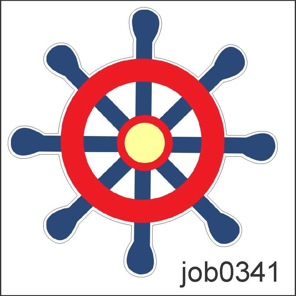 Adesivo Marinheiro Volante Barco Navio Desenho Job0341 R 64 99