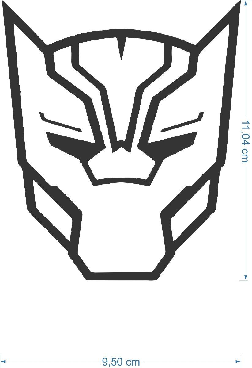 adesivo máscara pantera negra 10cmx15cm marvel filme geek r 14 98