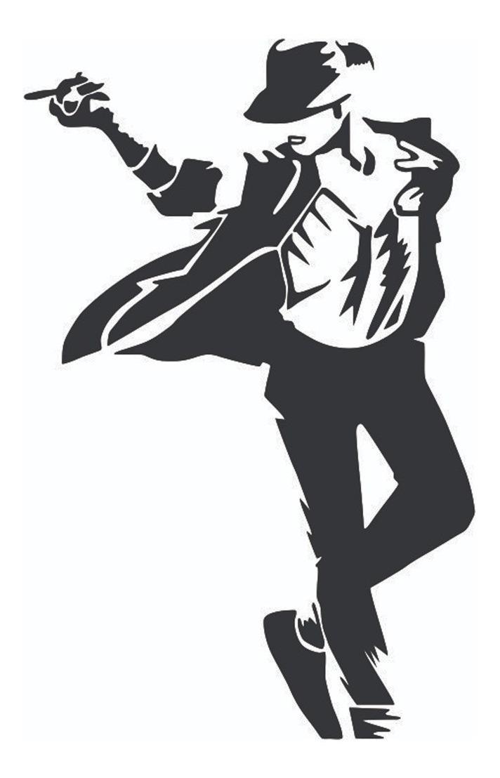 Adesivo Michael Jackson Preto Pequeno R 13 00 Em Mercado Livre