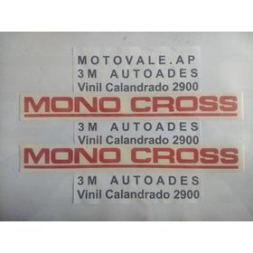 Adesivo Monocross Vermelho Tenere Par