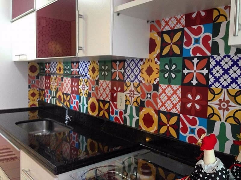 adesivo mosaico tipo azulejo portugus