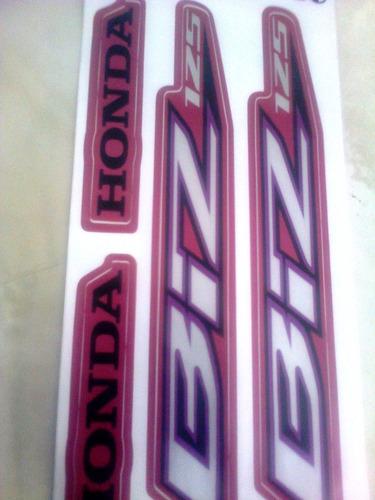 adesivo moto biz 125 es 2014 rosa completo