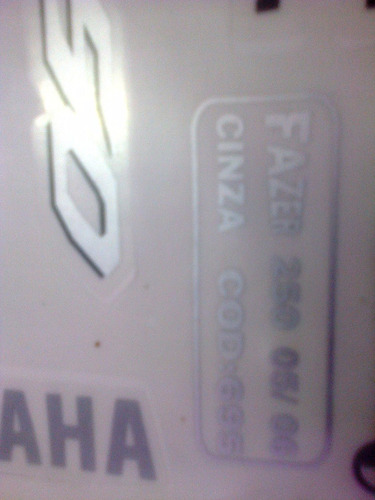 adesivo moto fazer 250 jogo cinza 05/06 completa