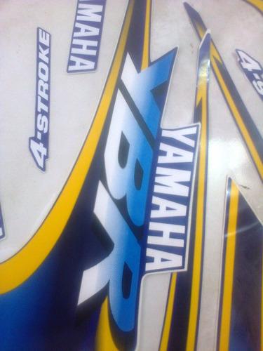 adesivo moto ybr 125 jogo azul 2000 completa