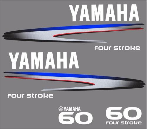 adesivo motor de popa yamaha 60 hp 4 tempos