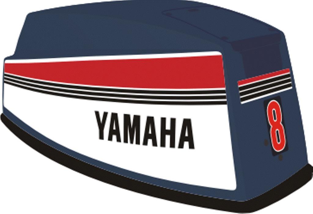 Aparador Y Vitrina Clasico ~ Adesivo Motor De Popa Yamaha 8 E 15 Hp R$ 195,00 em Mercado Livre