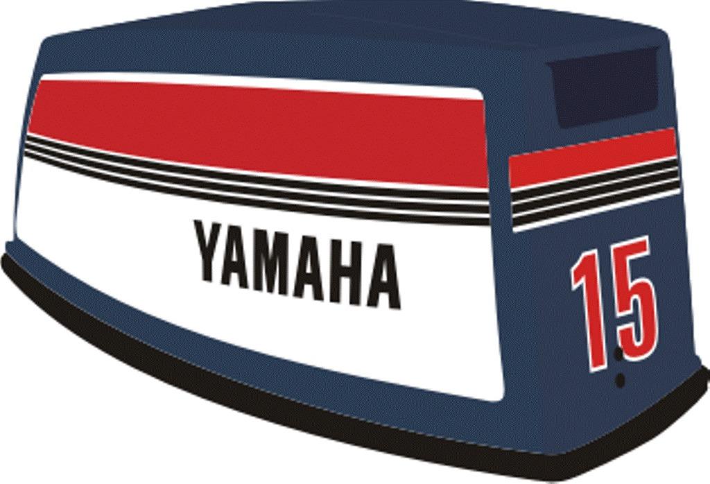 Artesanato Mineiro Em Madeira ~ Adesivo Motor De Popa Yamaha 8 E 15 Hp R$ 195,00