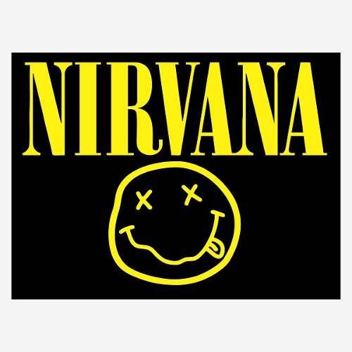 adesivo musica rock nirvana p/ porta geladeira etc 30cm a317