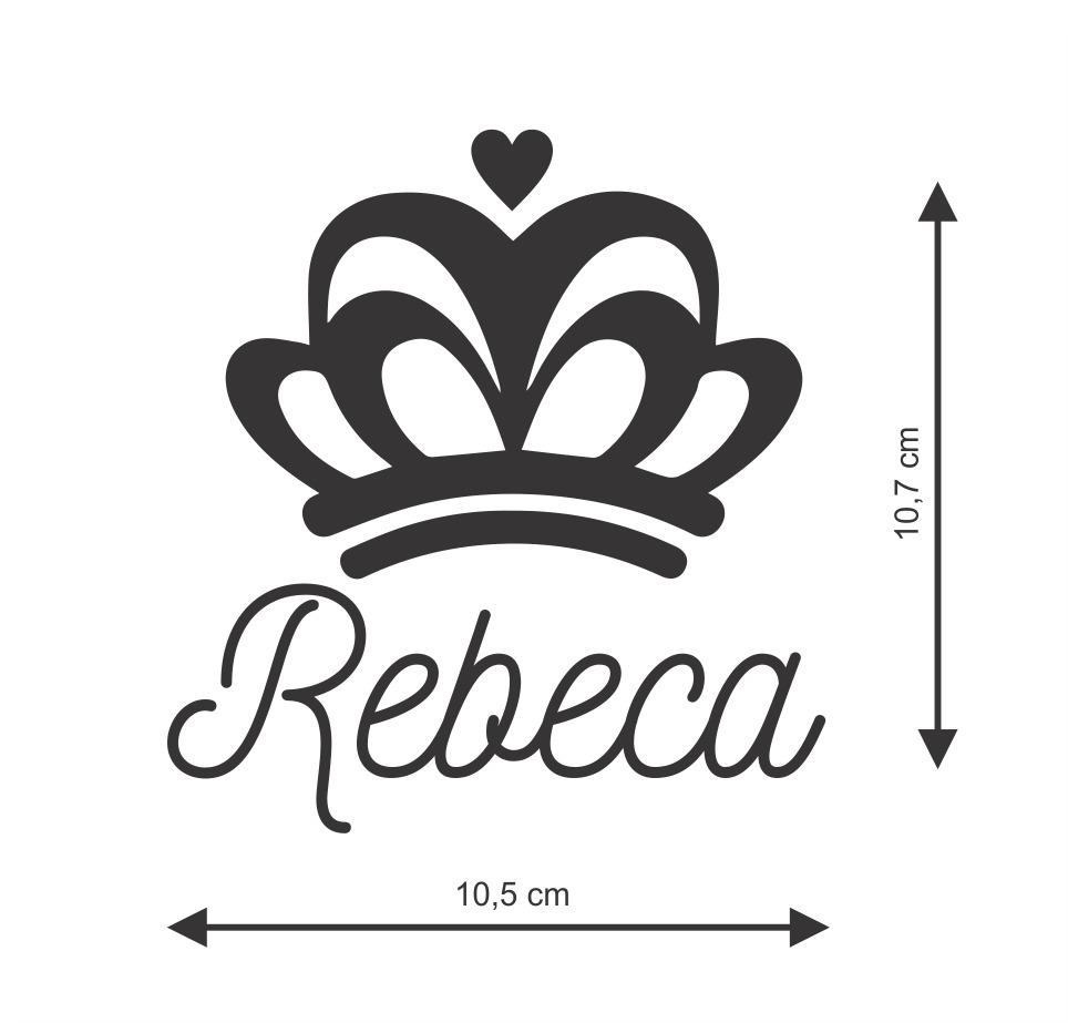 Artesanato Em Ubatuba ~ Adesivo Nome Personalizado Coroa Princesa Criança Rebeca R$ 5,00 em Mercado Livre