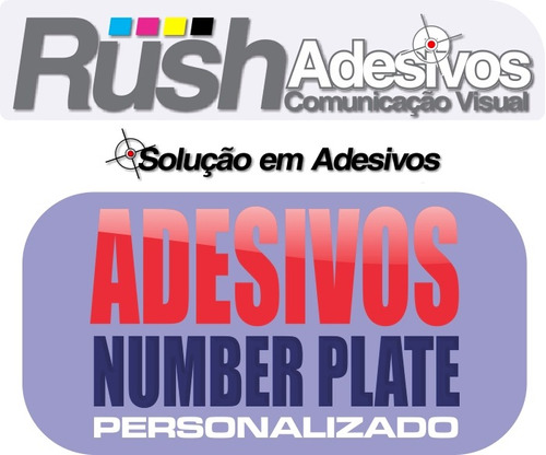 adesivo number plate, personalizado