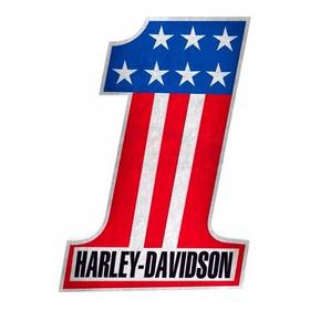 Adesivo Numero 1 Harley Davidson Usa 20 X 13 Cm -resinado