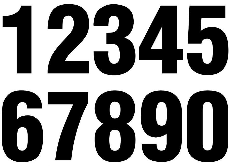 Adesivo Números Numeral Organizador Organização Notebook Pc - R$ 9 ...