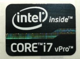adesivo original intel core i7 vpro 2° e 3° geração (preto)