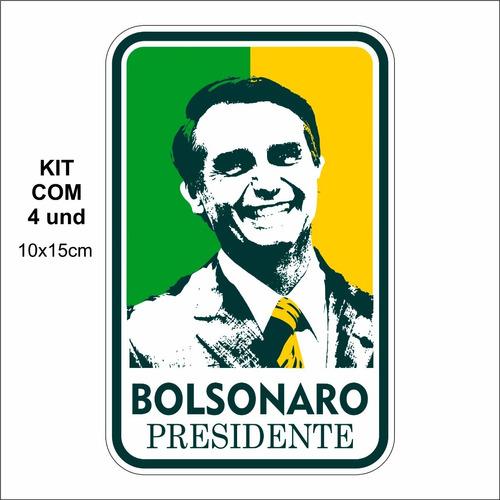 adesivo p/ carro - bolsonaro presidente