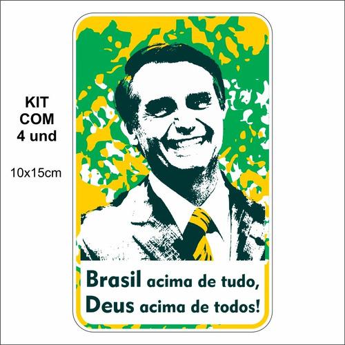 adesivo p/ carro - brasil acima de tudo, deus acima de todos