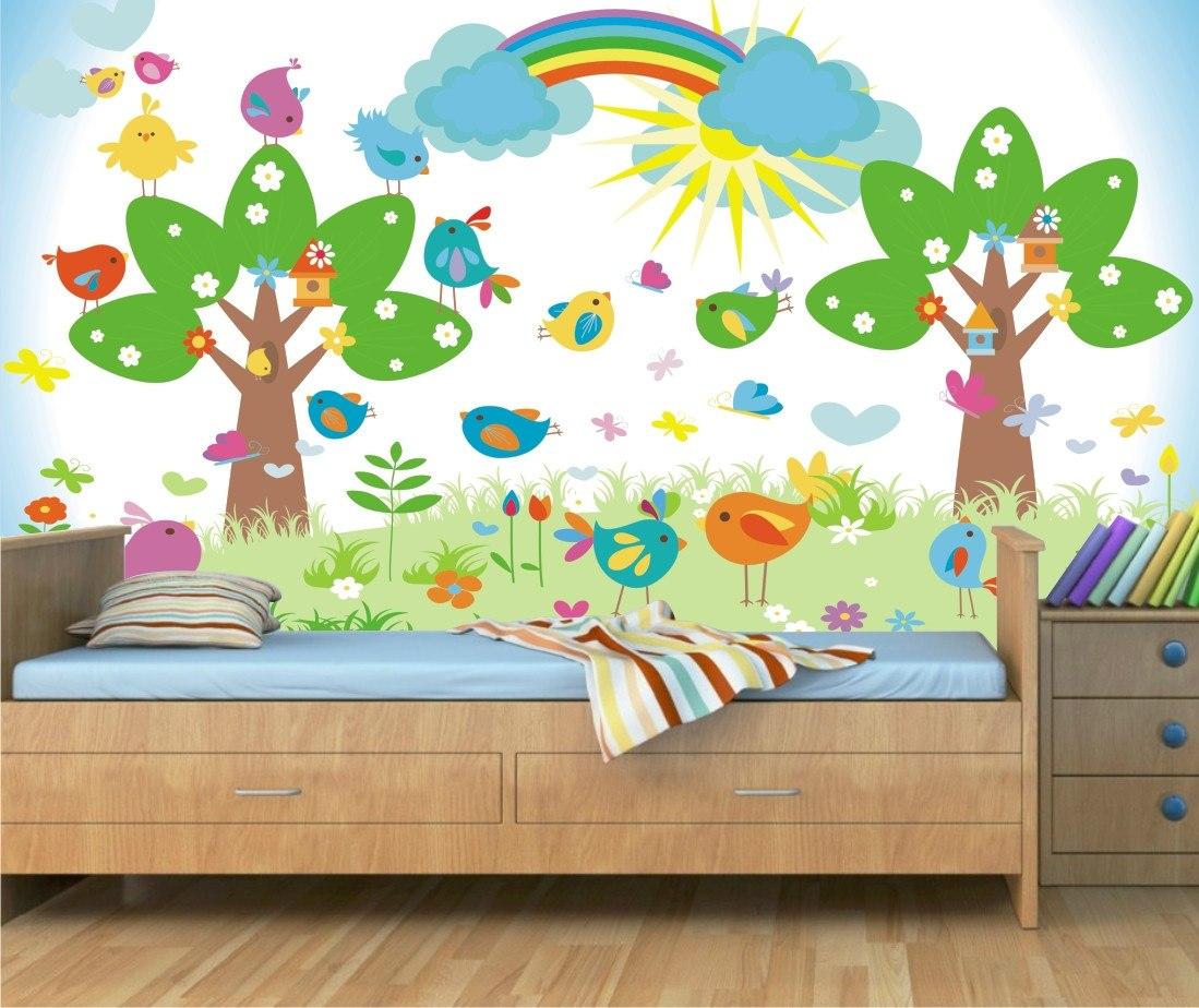 Aparador Estreito Para Sala ~ Adesivo Painel Safari Decorativo Parede Infantil Zoo Mod10