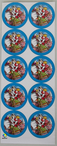 adesivo palhaço pop (30 adesivos)