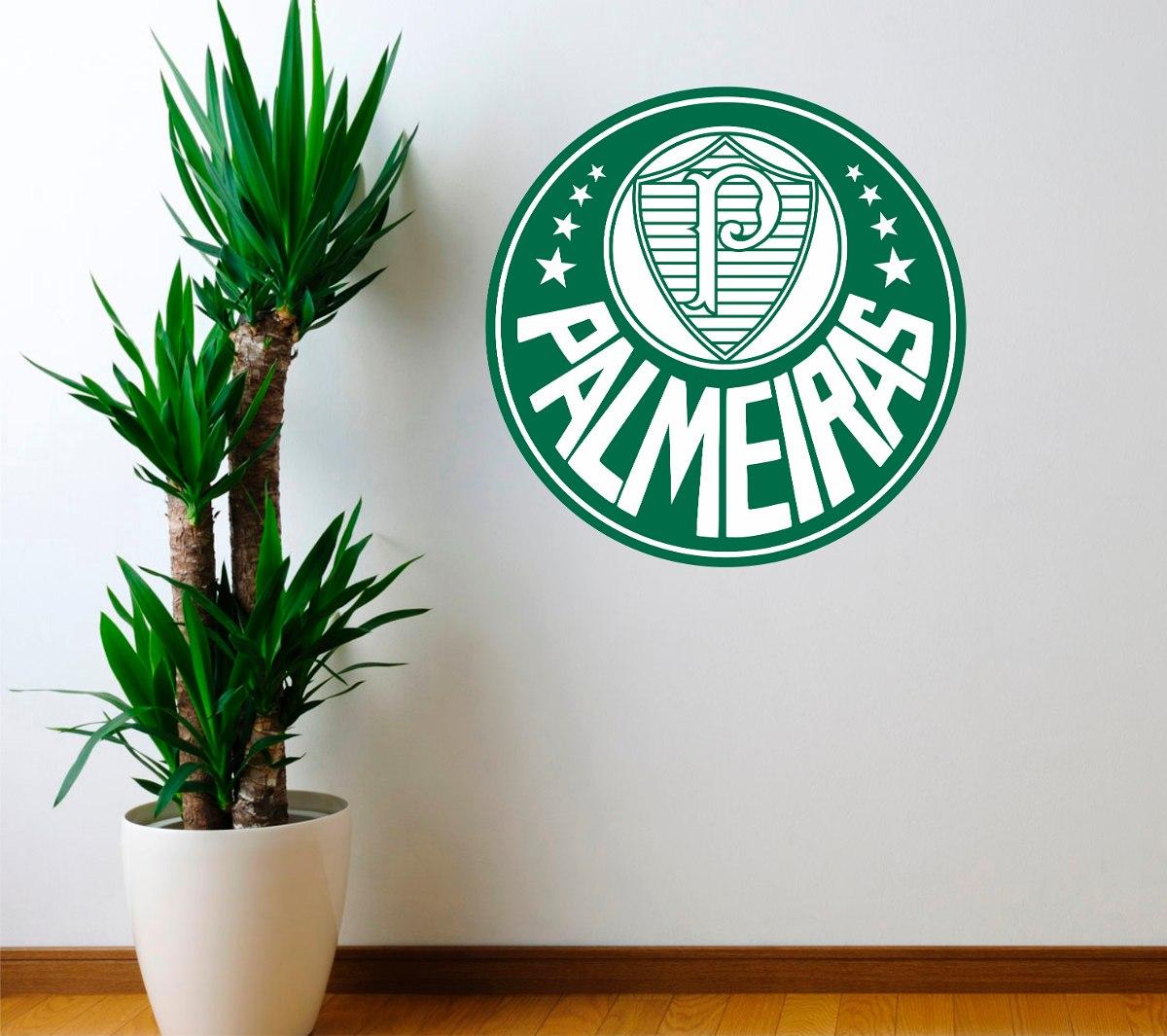 c8d94ad3ac adesivo palmeiras futebol com fundo 48cmx48cm escudo parede. Carregando  zoom.