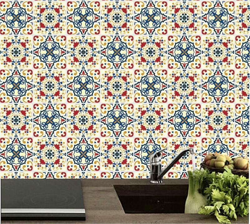 Artesanato Indigena Comprar ~ Adesivo Papel De Parede Cozinha Azulejos Decorativo 10 R$ 99,00 em Mercado Livre