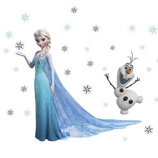 Adesivo De Parede Frozen ~ Adesivo Papel De Parede Frozen Elsa E Olaf Disney R$ 59