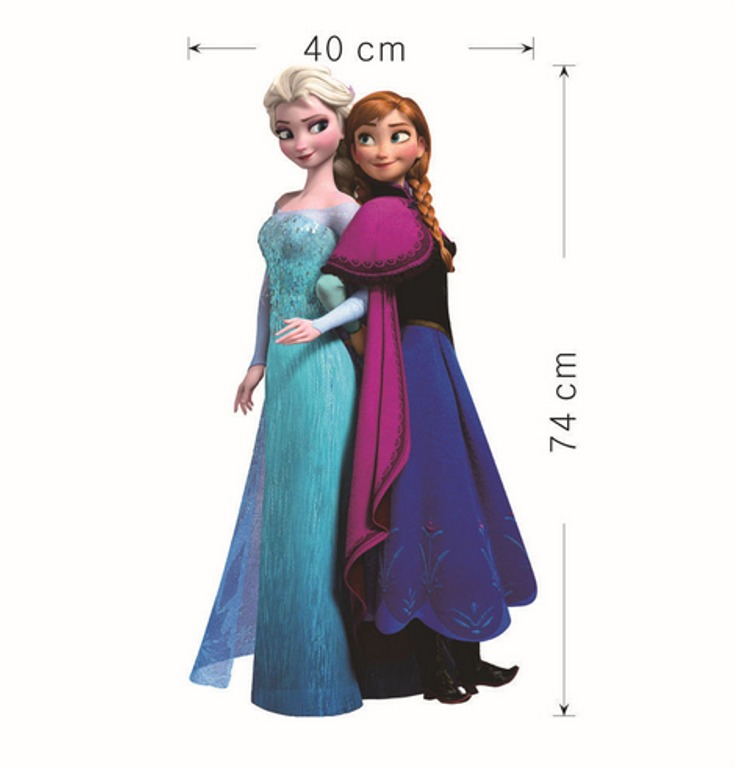 Aparador Moderno Branco ~ Adesivo Papel De Parede Frozen Rainha Elsa E Anna R$ 49