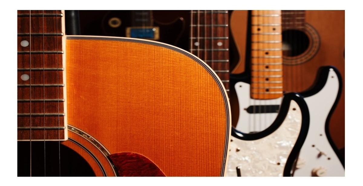 Adesivo Papel De Parede Musica Musical Violao Guitarra 07 R 99
