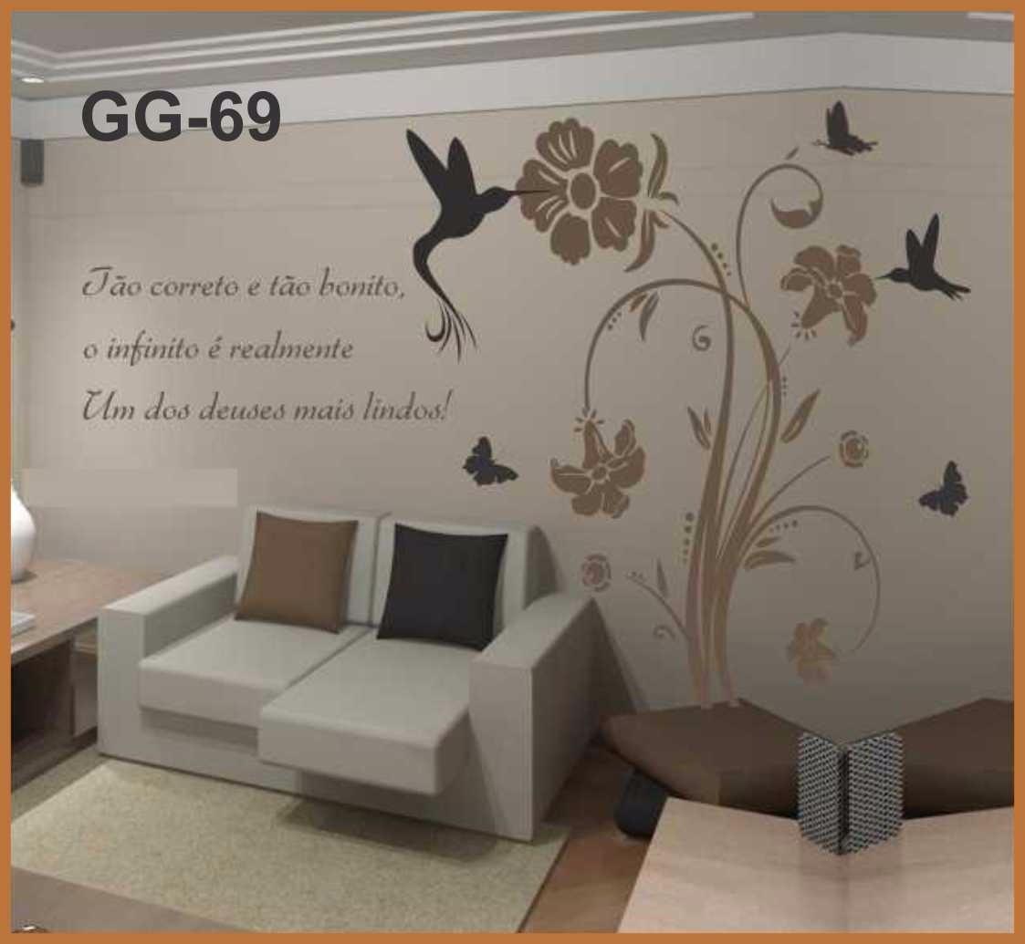Adesivo papel de parede romantico exclusivo para sala quarto r 120 46 em mercado livre - Papel para paredes decorativo ...