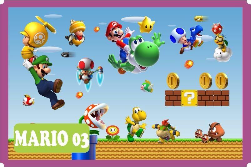 Adesivo Emagrecedor Funciona ~ Adesivo Papel De Parede Super Mario Bross Kart Luiggi 7 M u00b2 R$ 239,90 em Mercado Livre