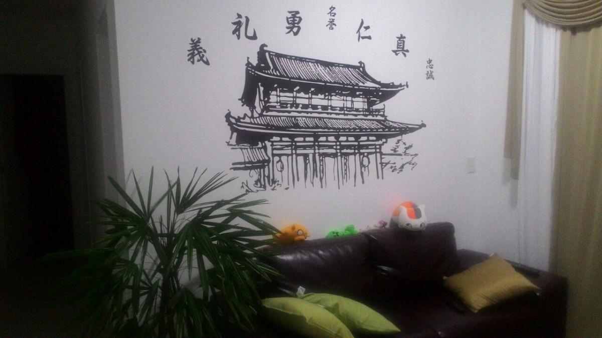 adesivo papel de parede templo oriental japonês frete gratis r