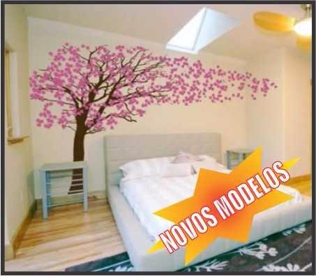 Adesivo papel parede arvore flores pronta entrega barato - Papel pared barato ...