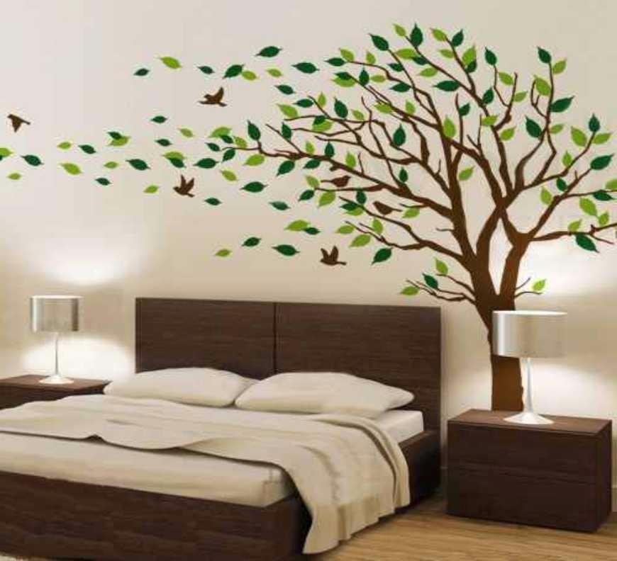 Adesivo papel parede arvore flores sala infantil quarto - Papel para decoracion de paredes ...