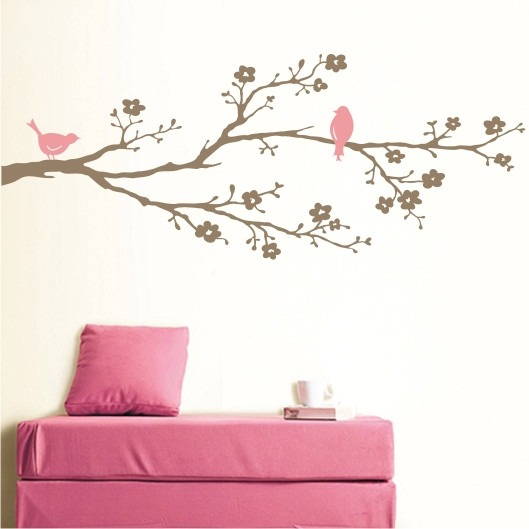 Aparador Estreito Para Sala ~ Adesivo Papel Parede Decorativo Floral Flores Passa