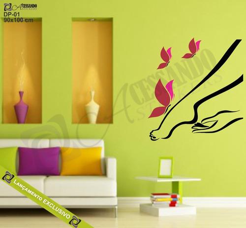 adesivo papel parede depilação estetica salão beleza +barato