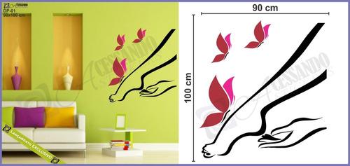 adesivo papel parede depilação feminina salão beleza +barato