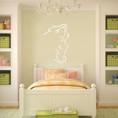 adesivo papel parede desenho animado disney pequena sereia