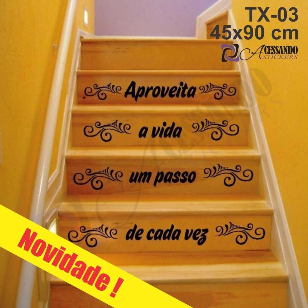Adesivo Papel Parede Escada Aproveite Vida Frase Em Estoque R 49