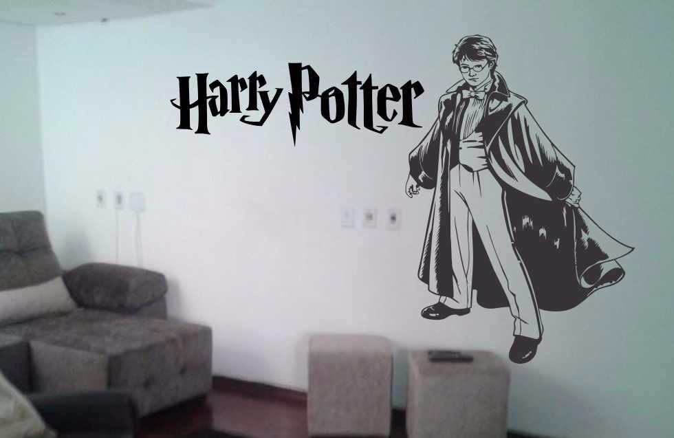Adesivo De Parede Harry Potter ~ Adesivo Papel Parede Harry Potter Infantil Cinema Novidade