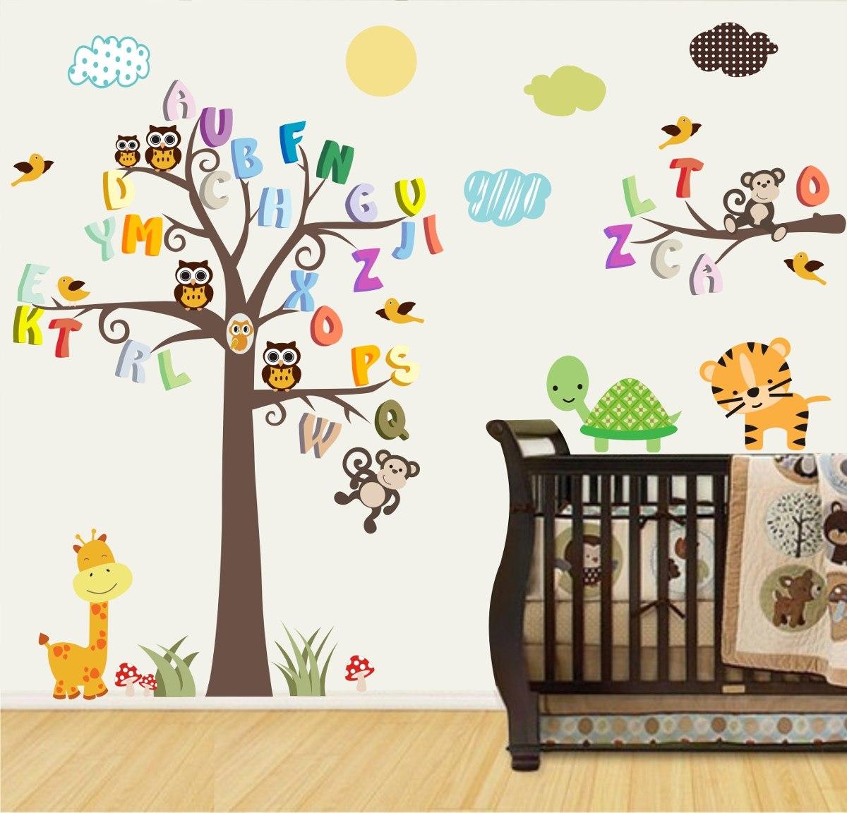 Adesivo Geladeira Inteira Mercado Livre ~ Adesivo Papel Parede Infantil Macaco Safari Animais Zoo M99 R$ 148,00 em Mercado Livre